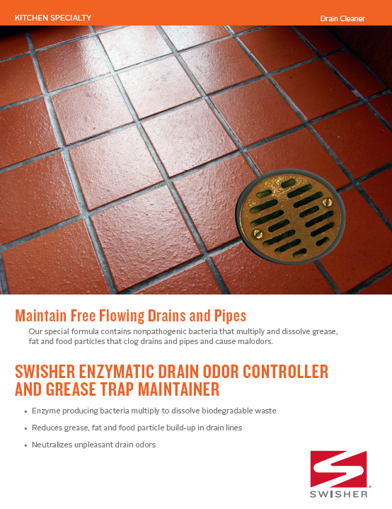 Swisher Enzymatic Drain Odor Controller and Grease Trap Maintainer