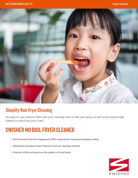 Swisher No Boil Fryer Cleaner Sell Sheet