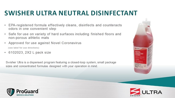 Swisher Ultra Neutral Disinfectant Cleaner Information